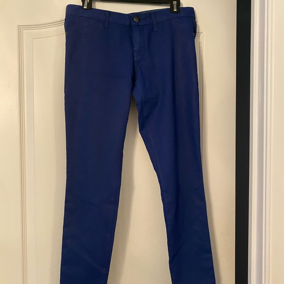 Blue coated Express jeans